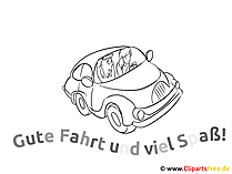 Ausmalbild Auto