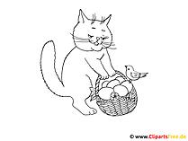 ぬりえページ猫