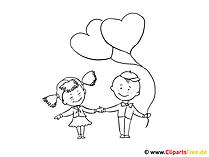 風船でページの子供たちを着色