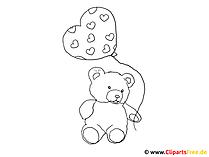 Ausmalbild Teddy Bär