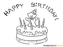 あなたの誕生日のケーキを着色するページ