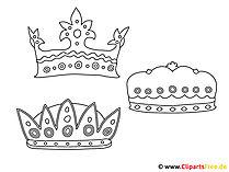 Kolorowanki drukują darmowe korony
