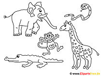 ぬりえページ印刷Animal Park