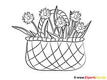 Ausmalbilder gratis zum Ausdrucken mit Blumen
