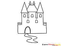 Kolorowanka zamek rycerski