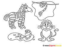 Kolorowanki szablonują zwierzęta