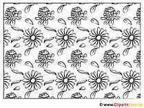 Kolorowanki do drukowania kwiatów