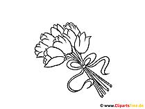 Bild zum Ausmalen Blumenstrauss