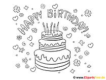 Obraz do kolorowania urodzin