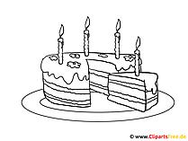 バースデーケーキを塗るための絵