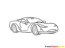 スポーツカーを描くための絵