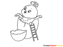 卵とひよこを塗るための写真