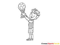 Bilder malen Vorlagen Fussball