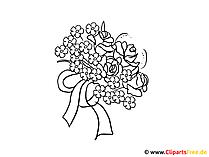 Bilder von Blumen zum Ausmalen
