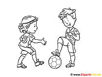 サッカーを着色するための画像テンプレート