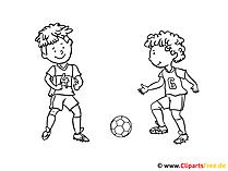 サッカーの着色と印刷用の写真