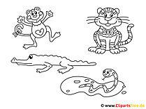 動物を描く絵