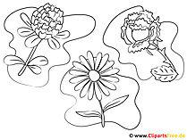 Zdjęcia do malowania i drukowania kwiatów