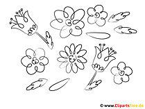 Kolorowanie szablonów kwiatów