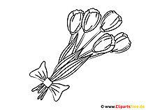 着色のための花のテンプレート