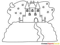 Zamek - malowanie obrazów do druku