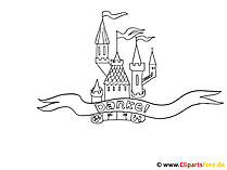 Burg Ausmalbild