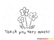 Druckbilder zum Ausmalen mit Blumen