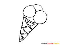 着色のためのアイスクリームの画像テンプレート