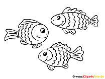 無料の魚のぬりえ