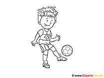 Obraz piłkarski do kolorowania
