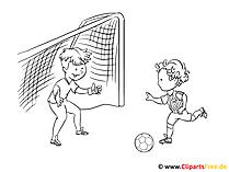 着色のためのサッカーの写真