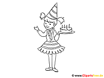 誕生日 - 着色のための子供の写真