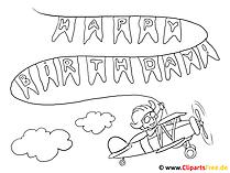Urodzinowa strona kolorowania