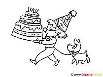Tort urodzinowy ze świeczkami kolorowanki
