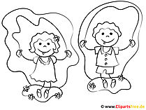 子供の絵 - 着色のための写真