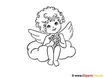 印刷天使たちのための無料の着色のページ