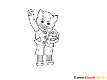 Kostenlose Malvorage Katze