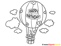Luftballon Ausmalbilder für Schule