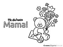 Śmieszne zdjęcia do kolorowania na Dzień Matki