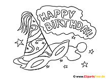 Mal Bilder zum Ausmalen - Happy Birthday