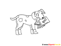 Malbild Hund