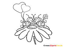 Malbilder mit Blumen