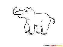 Darmowa strona do kolorowania Rhino