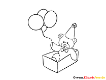 ぬりえページぬりえページ -  Funny Teddy