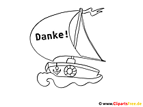 Schiff Ausmalbild