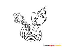 Kolorowanka Teddy Bear