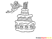 Pie Coloring Template