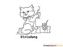 猫を着色するためのテンプレート