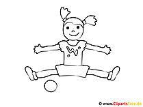 Zum Ausmalen Bild Sport im Kindergarten