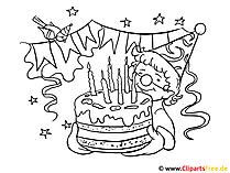 Happy Birthday Picture do kolorowania